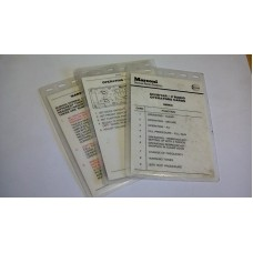 MARCONI SCIMITAR V OPERATOR CARD SET